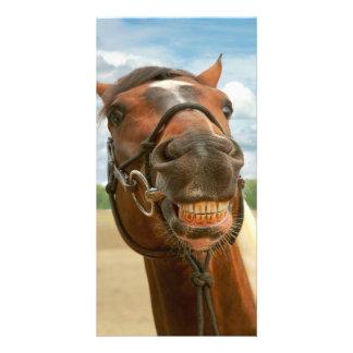 Animal - Horse - I finally got my braces off Custom Photo Card