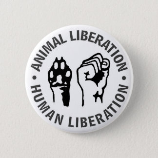 Animal & Human Liberation 6 Cm Round Badge