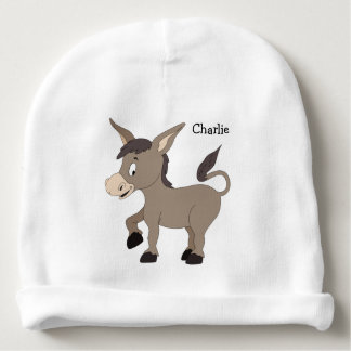 Animal Illustrations custom name baby hat Baby Beanie