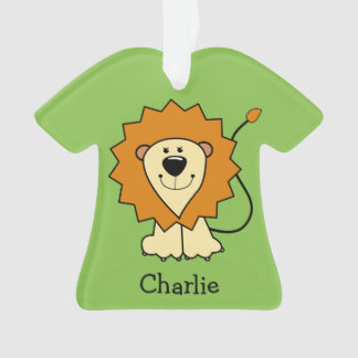 Animal illustrations custom name kid's ornament
