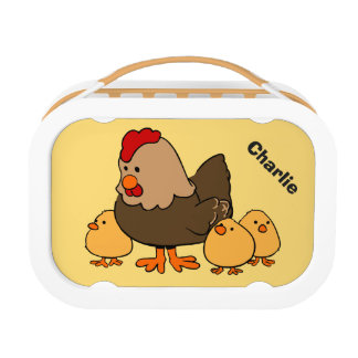 Animal illustrations custom name lunch box