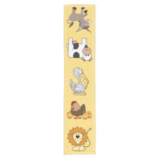 Animal illustrations kids' table runner