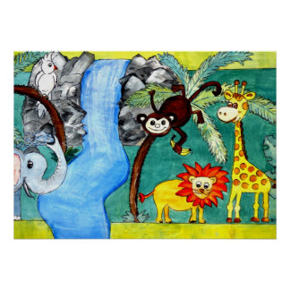 Animal Jungle Poster