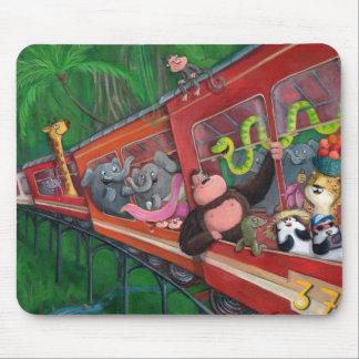 Animal Jungle Train Mouse Pad