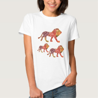 ANIMAL KINGDOM :  Painted Lion Family Shirt