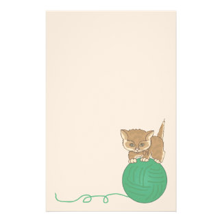 Animal Kitten Pet Lovers Stationery