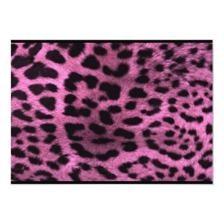 Animal leopard print - pink personalized invitation