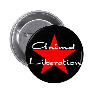 animal liberation 6 cm round badge