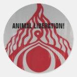 Animal Liberation! Classic Round Sticker