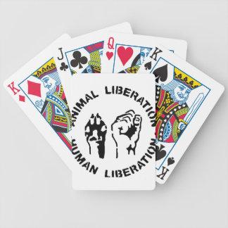Animal LIberation - Human Liberation Bicycle Playing Cards