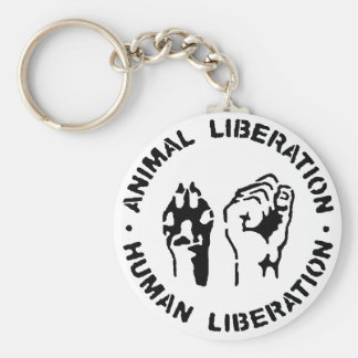 Animal Liberation Human Liberation Key Ring