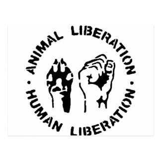 Animal LIberation - Human Liberation Postcard