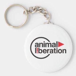 Animal Liberation t-shirt Basic Round Button Key Ring