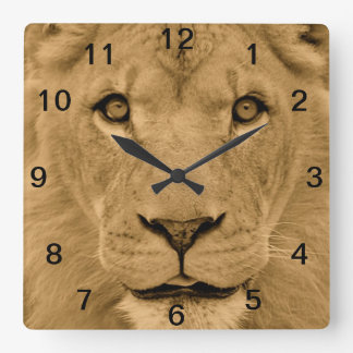 Animal Lion Face Wall Clock