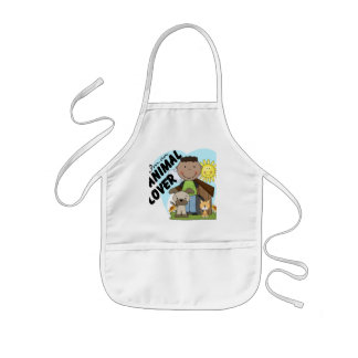 Animal Lover African American Boy Tshirts Kids Apron