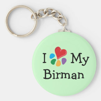 Animal Lover_I Heart My Birman Keychains