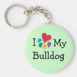 Animal Lover_I Heart My Bulldog Key Chain