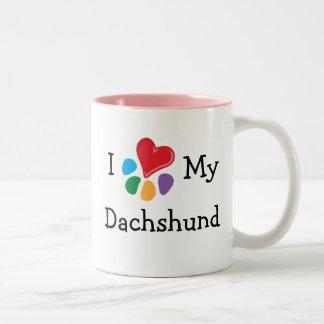 Animal Lover_I Heart My Dachshund Two-Tone Coffee Mug