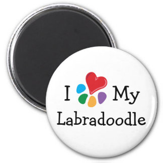 Animal Lover_I Heart My Labradoodle 6 Cm Round Magnet