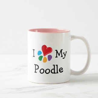 Animal Lover_I Heart My Poodle Two-Tone Coffee Mug