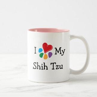 Animal Lover_I Heart My Shih Tzu Two-Tone Coffee Mug