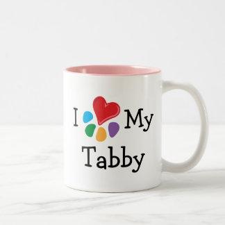 Animal Lover_I Heart My Tabby Two-Tone Coffee Mug