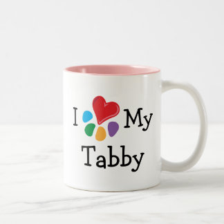 Animal Lover_I Heart My Tabby Two-Tone Mug