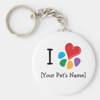 Animal Lover_I Heart template Keychains