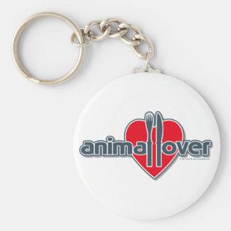 Animal Lover Basic Round Button Key Ring