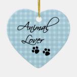 Animal Lover-paws Ceramic Heart Decoration