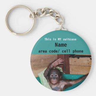 Animal Lover suitcase ID tag Basic Round Button Key Ring