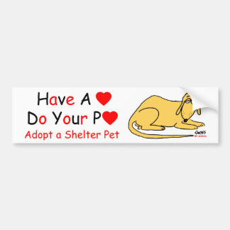 Animal Lover's Message Bumper Sticker
