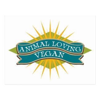 Animal Loving Vegan Postcard