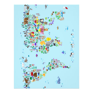 Animal Map of the World Full Colour Flyer