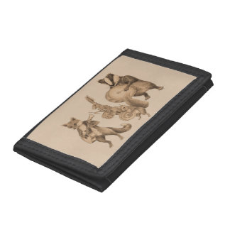 Animal marching band trifold wallets