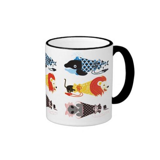 Animal megaphone…Fish cat woman (ANIMAL MEGAPHONE  Coffee Mugs