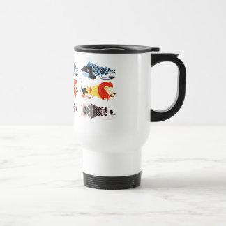 Animal megaphone…Fish cat woman (ANIMAL MEGAPHONE Stainless Steel Travel Mug