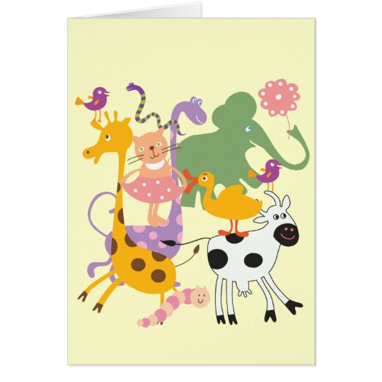 Animal Menagerie Card