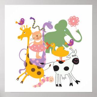 Animal Menagerie Print