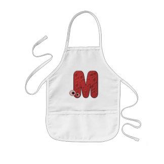 animal monogram - M Kids Apron