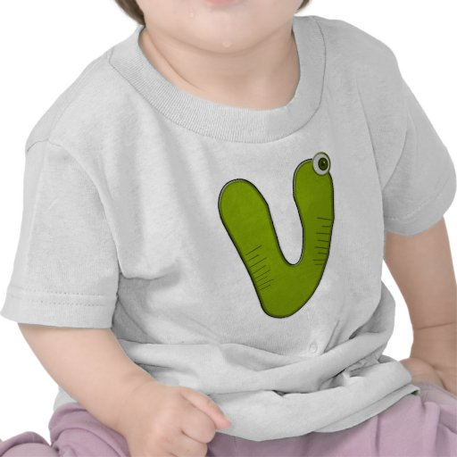 animal monogram - V T-shirt