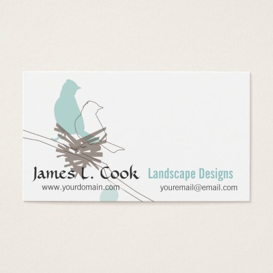 Animal Nature Wildlife Birds Drawing Event Planner Business Card