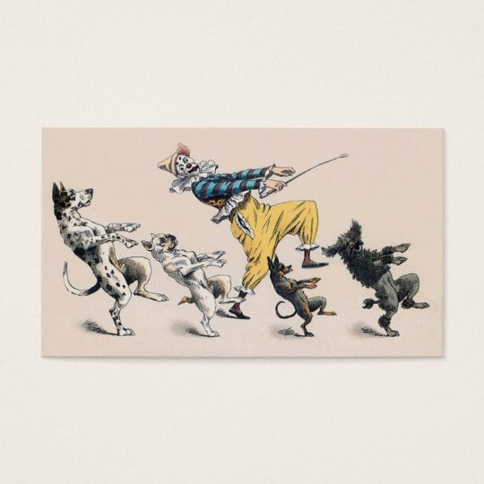 Animal or Dog Trainer, Clown, Dance Teacher Business Card