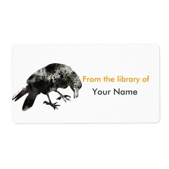 Animal Parade Black Halooween Crow Shipping Label