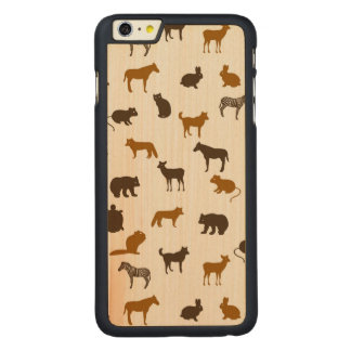 Animal pattern 1 carved maple iPhone 6 plus case