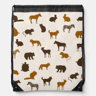 Animal pattern 1 drawstring bag