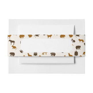 Animal pattern 1 invitation belly band