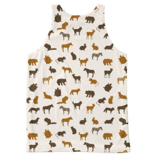 Animal pattern 1 All-Over print tank top