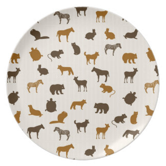 Animal pattern 1 plate