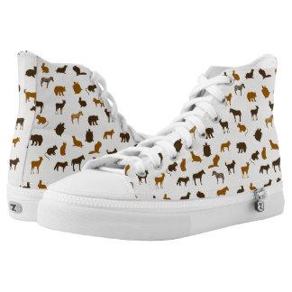 Animal pattern 1 printed shoes